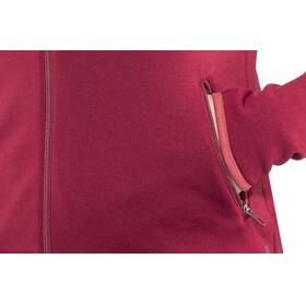 Odlo Carve Warm Full Zip Midlayer Women rumba red